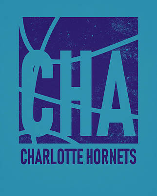 Mixed Media - Charlotte Hornets City Poster Art by Joe Hamilton