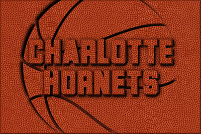 Hornets Photograph - Charlotte Hornets Leather Art by Joe Hamilton
