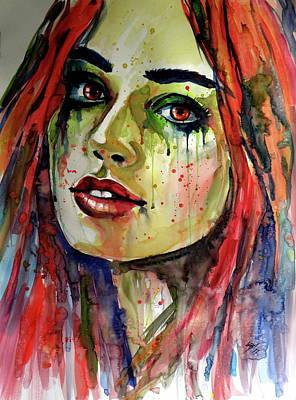 Painting - Charlotte by Kovacs Anna Brigitta