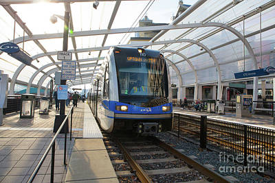 Photograph - Charlotte Light Rail Station by Kevin McCarthy
