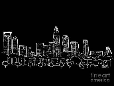 Digital Charlotte Nc Photograph - Charlotte Nc View From The East by Robert Yaeger