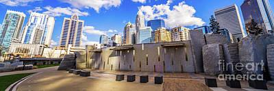 Charlotte North Carolina Panorama Photo Art Print by Paul Velgos