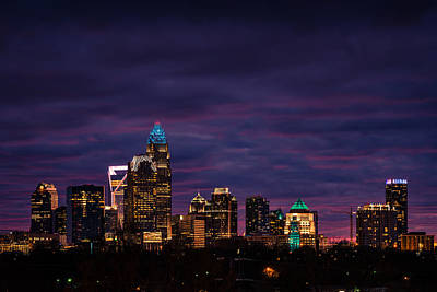 Photograph - Charlotte, North Carolina Winter Sunset by Serge Skiba