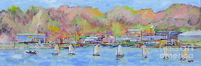 Painting - Charlotte, Ny Sailing Class by Jodie Marie Anne Richardson Traugott          aka jm-ART
