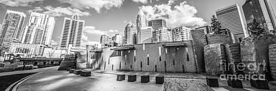 Charlotte Panorama Black And White Photo Art Print by Paul Velgos