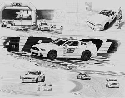 Charlotte Race Day Print by Myke Irving