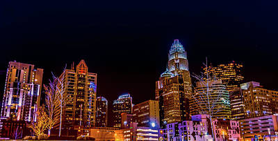 Photograph - Charlotte Skyline At Night by Ant Pruitt