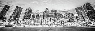 Charlotte Skyline Black And White Panorama Photo Art Print