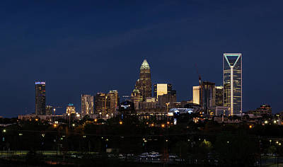 Photograph - Charlotte Skyline During Blue Hour by Serge Skiba