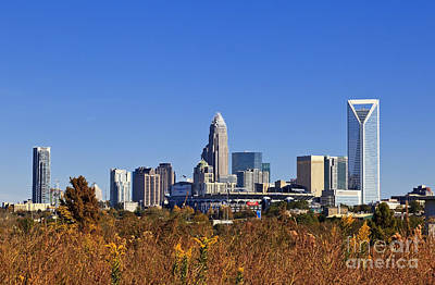 Charlotte Photograph - Charlotte Skyline From Wilkinson Blvd by Jill Lang