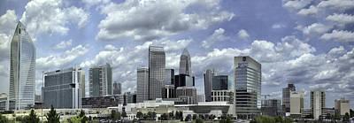 Photograph - Charlotte Skyline Panorama 02 by Jim Dollar