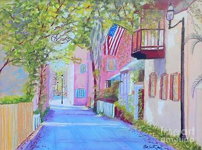Pastel - Charlotte St. St. Augustine by Rae  Smith PAC