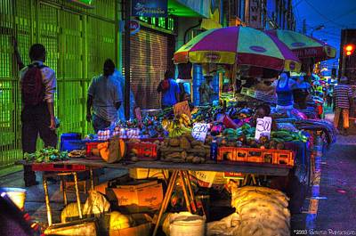 Charlotte Street Vendors Original by Sarita Rampersad