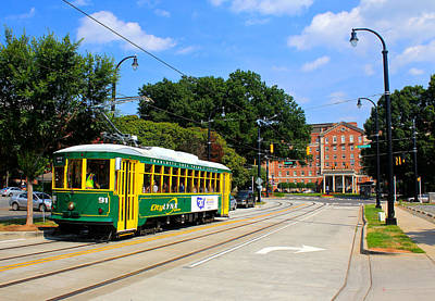Photograph - Charlotte Streetcar Line 1 by Joseph C Hinson Photography