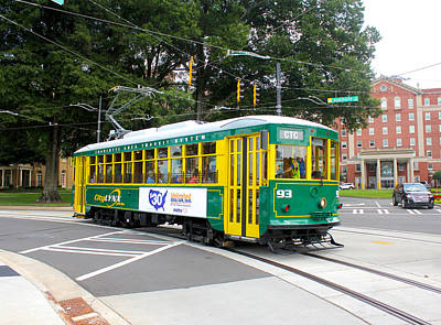 Photograph - Charlotte Streetcar Line 3 by Joseph C Hinson Photography