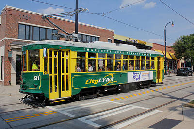Photograph - Charlotte Streetcar Line 4 by Joseph C Hinson Photography