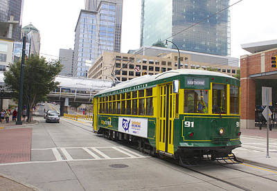 Photograph - Charlotte Streetcar Line 5 by Joseph C Hinson Photography