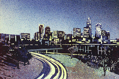 Painting - Charlotte Sunset- North Carolina by Ryan Fox