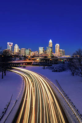 Photograph - Charlotte Winter Skyline by Serge Skiba