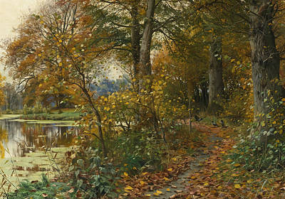 Painting - Charlottendun Forest by Peder Monsted