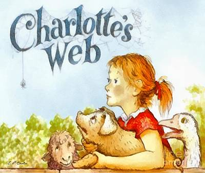 Whimsical Painting - Charlottes Web by Elizabeth Coats