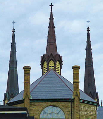 Photograph - Charlottetown Spires by Randall Weidner