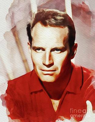 Painting - Charlton Heston, Movie Star by John Springfield