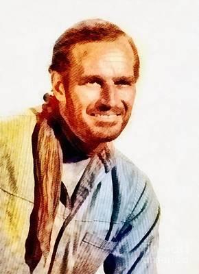 Charlton Painting - Charlton Heston, Vintage Actor By John Springfield by John Springfield