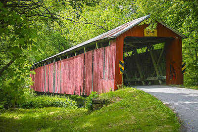 Music Royalty-Free and Rights-Managed Images - Charlton Mill Covered Bridge by Jack R Perry