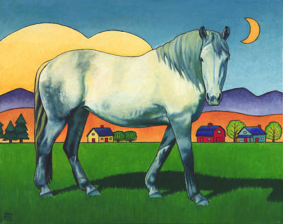 Moon Painting - Charmeon by Stacey Neumiller