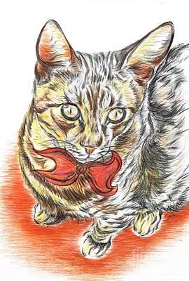 Charming Cat Art Print