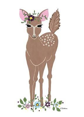 Painting - Charming Deer by Kathleen Sartoris