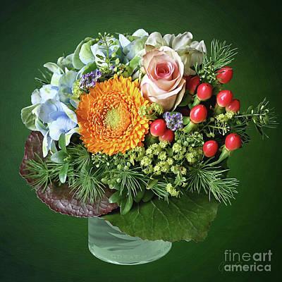 Photograph - Charming Flower Bouquet by Gabriele Pomykaj