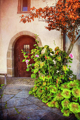 Stylish Photograph - Charming Old Door In Basel  by Carol Japp