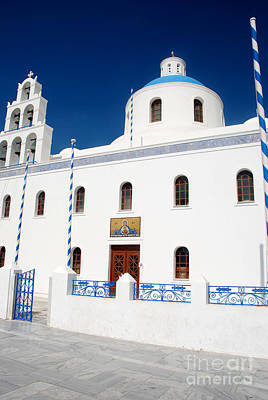Cyclades Photograph - Charming Santorini Church by Just Eclectic