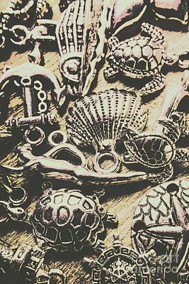 Vintage Collage Wall Art - Photograph - Charming Seashore Symbols by Jorgo Photography - Wall Art Gallery
