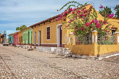 Caribbean Corner Photograph - Charming Street Corner In Trinidad, Cuba by Daniela Constantinescu