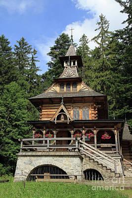 Photograph - Charming Wooden Chapel by Teresa Zieba