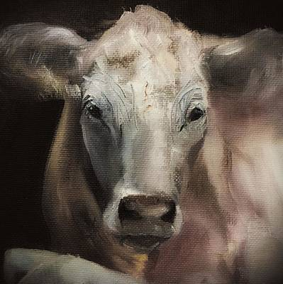 Painting -  Charolais  by Michele Carter