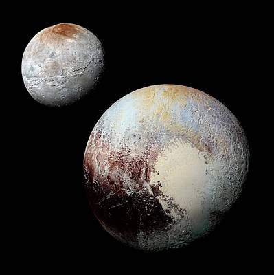 Photograph - Charon And Pluto Enhanced by Weston Westmoreland