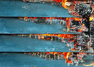 Inferno Photograph - Charred Remains by Todd Klassy