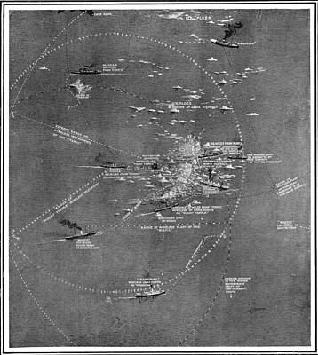Titanic Drawing - Chart Of The Rms Titanic Wreck Site by Vintage Design Pics