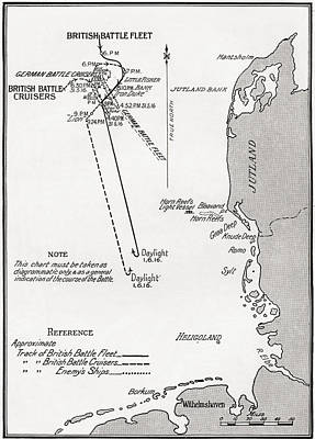 North Sea Drawing - Chart Showing The Course Of The British by Vintage Design Pics