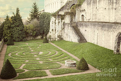 Chartre Photograph - Chartres Labyrinth Garden by Juli Scalzi