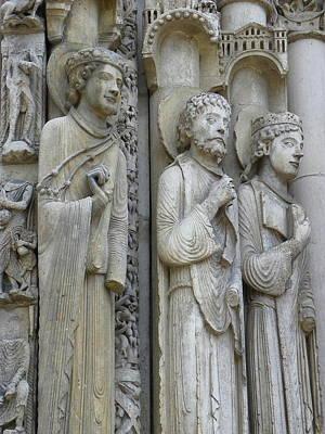 Photograph - Chartres Portal Sculpture by Sarah Lamoureux