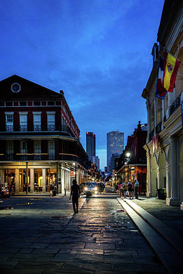 Dramatic Photograph - Chartres Street From Jackson Square by Chrystal Mimbs