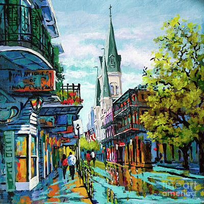 Chartre Painting - Chartres Street Glow by Dianne Parks