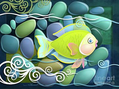 Digital Art - Chartreuse by Randy Wollenmann