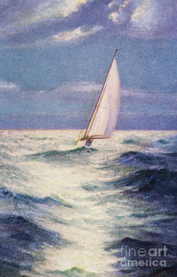 Painting - Chas Marer - Sailboat by Hawaiian Legacy Archive - Printscapes