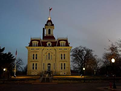 Photograph - Chase County Courthouse by Keith Stokes